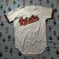 VTG 90s MLB Baltimore Orioles Rawlings  Shirt Jersey Adult LT Graphic White USA