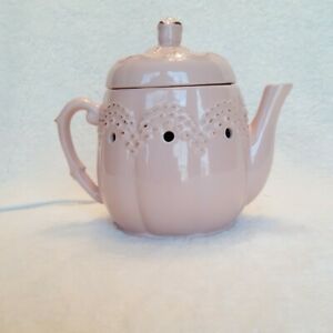 Retired Vintage Teapot Scentsy 29130 Electric Wax Warmer Pale Pink