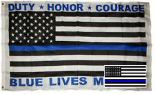 Wholesale Combo 3x5 Police Lives Matter Duty Flag & USA Memorial Decal Sticker