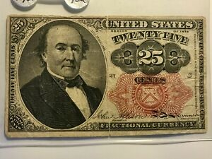 FRACTIONAL CURRENCY  FR-1308  25c  FIRM  LIGHT TONED   ON SALE!  (6c)