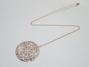 "TIFFANY & CO. rubedo metal Enchant Circle large pendant long necklace 30"""