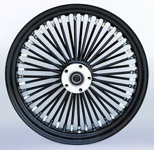 "Black/Black Ultima 48 King Spoke 18"" x 3.5"" Rear Wheel for Harley and Models"