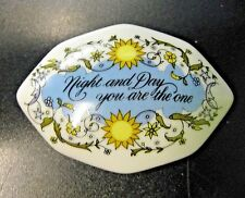 "Songs Of Love Music Box 1983 Franklin Porcelain ""Night and Day You Are the One"""