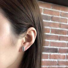 Trendy Vintage Razor Blade Silver(92.5%) Blade Earring Jewelry Stud Earrings