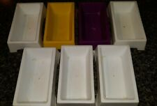Lot of Universal Plastic Rectangle Food Trays Small Birds Guinea Pig Hamster Etc