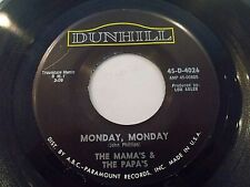 The Mamas & The Papas Monday Monday / Got A Feelin' 45 1966 Dunhill Vinyl Record