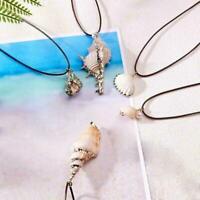 Natürliche Schraube Shell Perle Anhänger hohle Halskette Kette Schmuc lange Z4S6