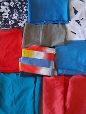 Bulk Lot of Vintage Fabric Material Sewing Craft Quilting Remnants Off Cuts NEW