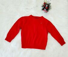 Tommy Hilfiger Babys Sz 24 Month Red Sweater Pullover crewneck youth Cotton