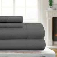 Luxury Ultra Soft Chevron Embossed Sheet Set by Sharon Osbourne Home