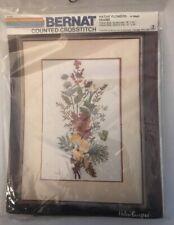 Bernat Cross Stitch Kit Native Flowers H04085 Helen Burgess