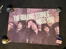Rolling Stones MISS YOU pink promo poster Keith Richard rare original SOME GIRLS