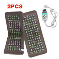 2PCS Stone heating mat Tourmaline Natural Jade Negative Ions InfraRed Pad【USA】