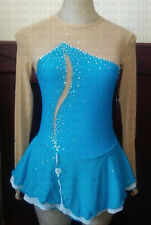 competition ice skating dresses blue custom girls figure skating clothing women