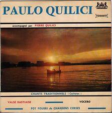 """PAULO QUILICI """"VALSE BASTIAISE"""" GUITARE CORSE 60'S EP CONSUL 2077"""