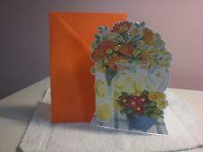 Carol's Rose Garden - Blank card - Pitcher of Lemonade & flowers on cover