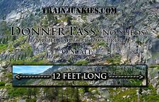 "TrainJunkies O Scale ""Donner Pass (No Sheds)"" Model Railroad Backdrop 24x144"""