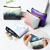Space Cool Stars Purse Wallet  Card Holder Women Coin Bag Key Case Pu Leather