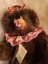 """Vintage Kimbearly's Originals Ruby #19011A&A Plush Bear #Leather Tag Ie/1252 12"""""""