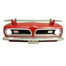 1969 Plymouth Barracuda Red Wall Shelves Decorative Resin Glass Topper