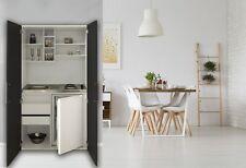 Schrankküche Küche Miniküche Küchenzeile Büro Küchenblock weiß schwarz respekta