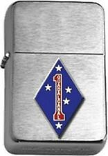 USMC 1st Marine Division Guadalcanal Brushed Chrome Lighter