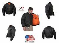Rothco Air Force Concealed Carry MA-1 Bomber Jacket Flight Coat Jacket NEW BLACK