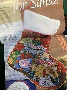 Joan Elliott Christmas Stocking Sleeping Mouse Cross Stitch chart Only