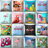 Flamingo Print Pillow Case Waist Throw Cushion Cover Bedroom Decor Trendy