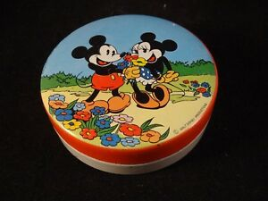 Ancienne boîte fer publicitaire confiserie Mickey Minnie Disney Paris France