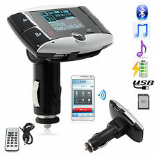 Car Kit MP3 Player Bluetooth FM Transmitter SD MMC USB Remote For iPhone Samsung