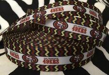"1 Yard 7/8"" SAN FRANCISCO 49ERS Grosgrain Ribbon - # 3"