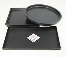 "3 Mix Japanese Plastic Humidity Trays for Bonsai, House Plant - 7.5"", 8.5"",10.5"""