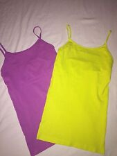 Cami Tank Tops with Shelf Bra Set of Two NEW  Sz M  Pretty