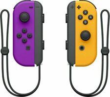 Nintendo Switch Joy-con controladores inalámbricos-neón púrpura y naranja
