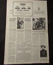 1957 Texas PRESS BOOK VG 12x18 4pgs William Holden, Glenn Ford, Claire Trevor
