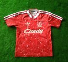 LIVERPOOL 1989/1991 HOME FOOTBALL SHIRT SIZE 30-32 ADIDAS CANDY VINTAGE JERSEY