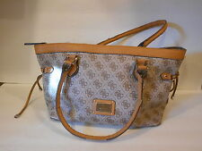 Guess Tan & Brown Handbag Purse