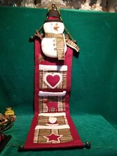 Vintage Christmas Card Holder Snowman Christmas Card Holder