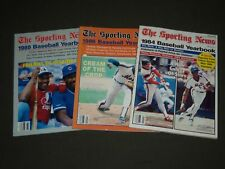 1984-1988 THE SPORTING NEWS BASEBALL YEARBOOK LOT OF 3 - O 1611
