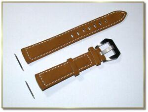 hochwertiges Wildleder Uhrenarmband hellbraun 18mm breit bildschöne Schlies.9836