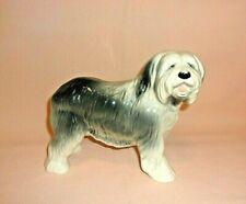 "Coopercraft Vintage Old English Sheepdog 6-3/4"" Tall Ceramic Figurine...England"
