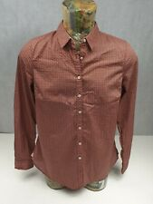 New With Tags Tommy Hilfiger Ladies Shirt Sz 14 Red Rust Brown Logo <<P2>>