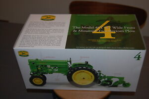 John Deere Model 40T w/Wide Front & Mounted Two-Bottom Plow 1/16 scale - NIB