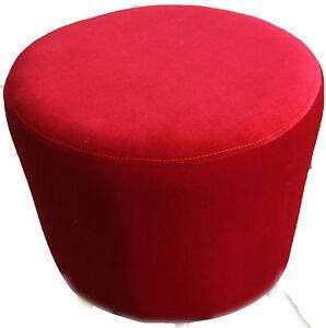 Stuhl Bank 1 x Topstar Hocker Sitz Stoffhocker Polsterhocker Stoff Muster rot