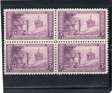 United States #739 Fine Mint Lightly Hinged Wisconsin Block Of 4 From 1934. Sun