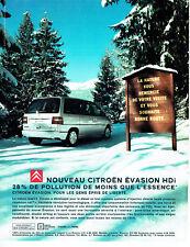 Publicité Advertising 107  2000   nouveau Citroen Evasion Hdi