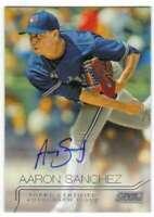 Aaron Sanchez Blue Jays Auto 2015 Topps Stadium Club Autographs #SCA-ASZ