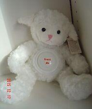 "Plush White Baby Lamb Night Light Tummy Press Button Soft Collect 9"" Child"
