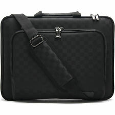Macbook Pro 17 Laptop Carrying Case Sleeve Memory Foam Shoulder Bag Checked